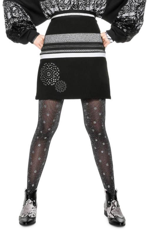 Černá zimní sukně Desigual