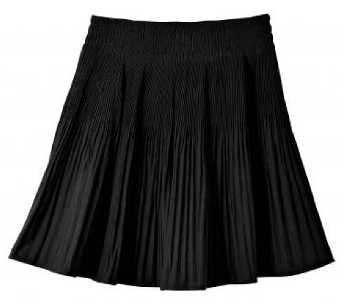 Kratší černá sukně s plisováním