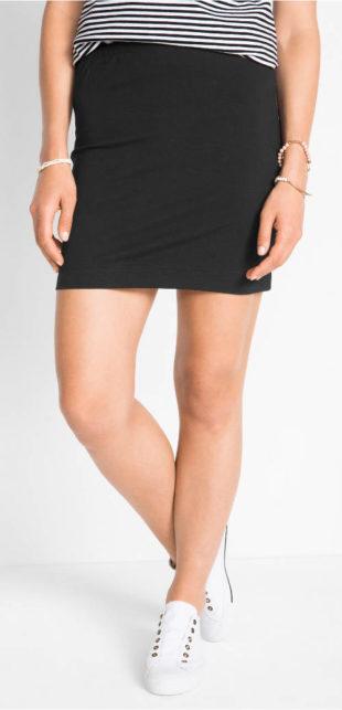 Levná strečová dámská mini sukně