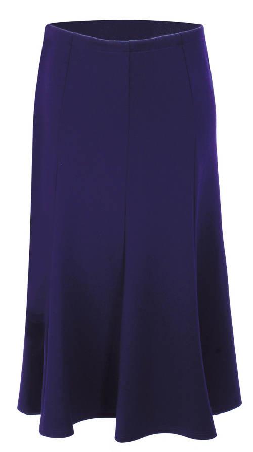 Modrá dlouhá jednobarevná sukně