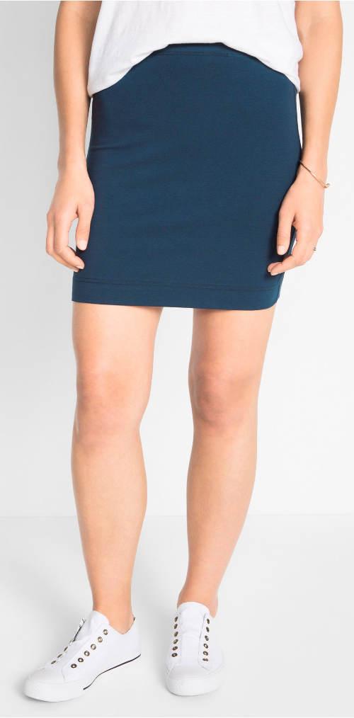 Modrá krátká sportovní sukně