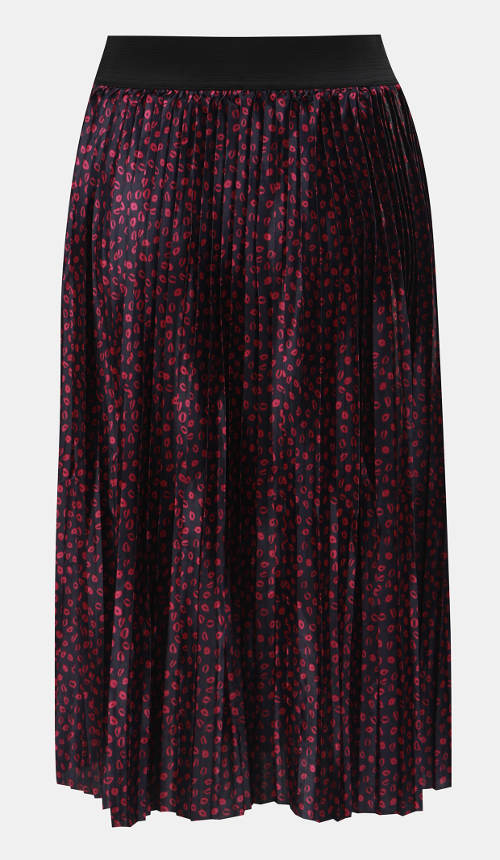 Plísovaná sukně s pusinkami