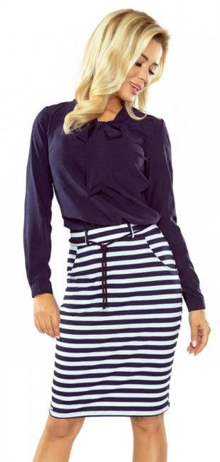 Pruhovaná námořnická sukně