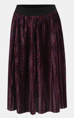 Růžovo-modrá vzorovaná plisovaná midi sukně 3f7ab14715
