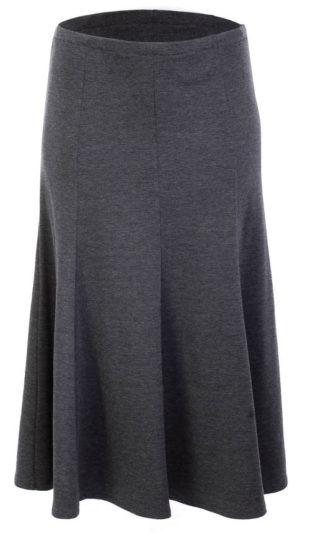 Teplá skládaná sukně pro plnoštíhlé
