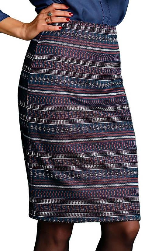 Žakárová etno sukně