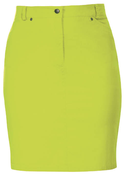 Zeleno-žlutá dámská sukně