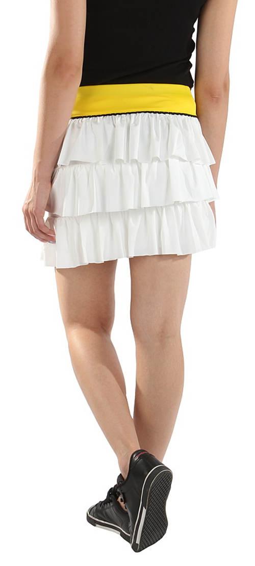 Bílo-žluá sportovní sukně