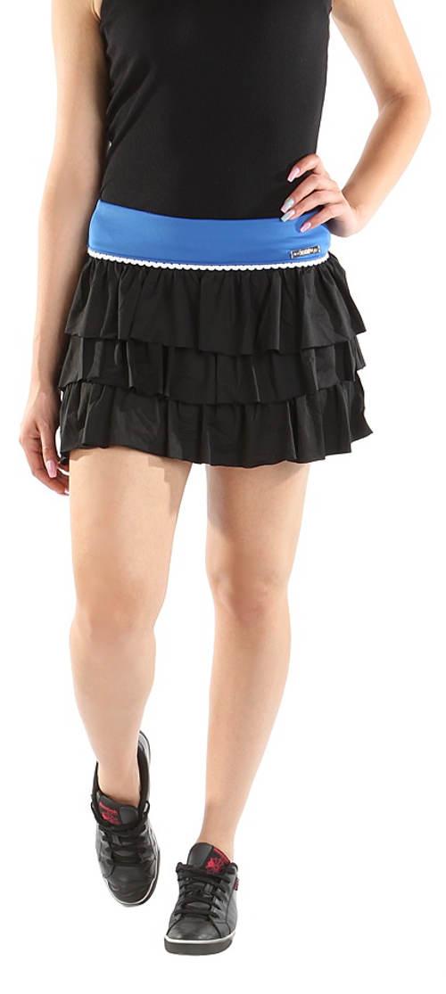 Černá sportovní vrstvená minisukně