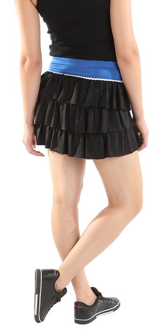 Černá volánová sportovní sukně