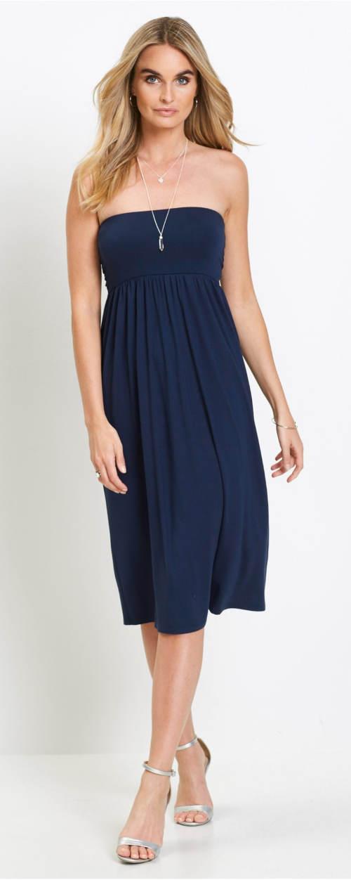 Bandeau šaty ze sukně