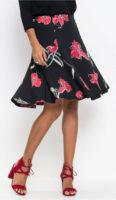 Dámská jarní sukně s rozšířenou spodní partií