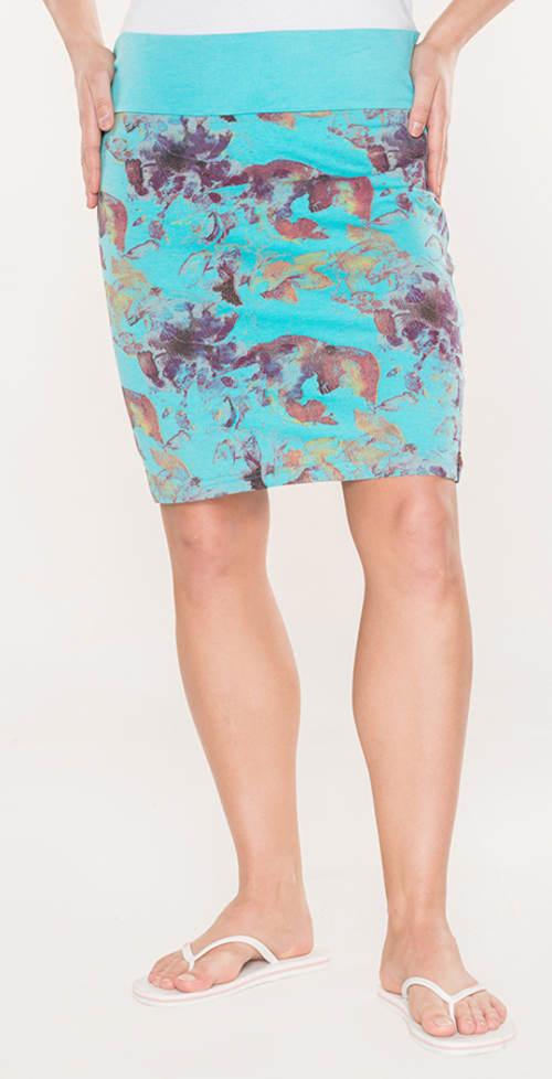 Dámská letní sukně s širokým pasem