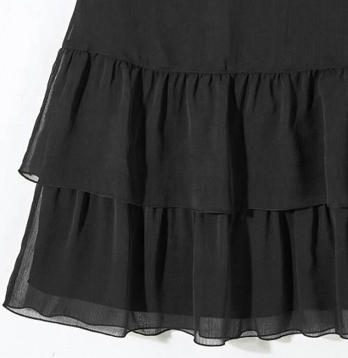 Dámská sukně s dvěma volány