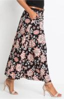 Dlouhá květinová sukně s páskem