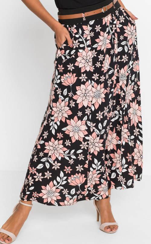 Dlouhá květovaná sukně s kapsami