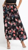 Dlouhá letní květinová sukně s kapsami