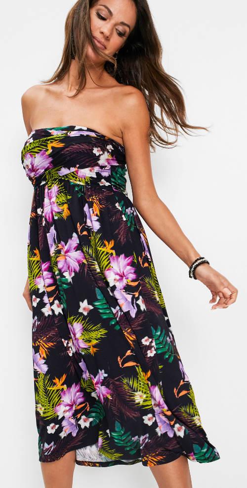 Květované šaty ze sukně