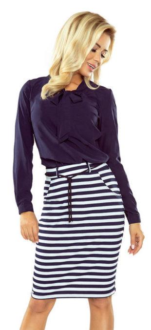 5a3b5ed6d6a Pruhovaná námořnická dámská sukně s kapsami