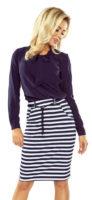 Pruhovaná námořnická dámská sukně s kapsami