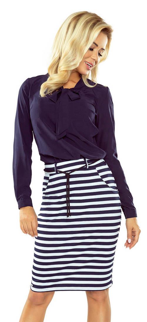 64aab29aae1e Pruhovaná námořnická dámská sukně s kapsami