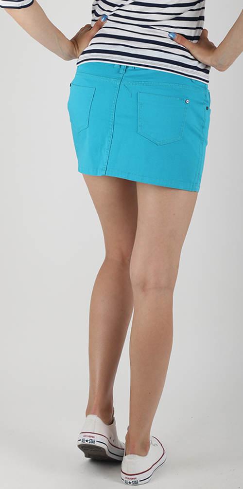 Fiflová sukně zářivě modré barvy