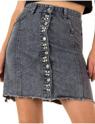 Šedá jeansová sukně Realty Jeans