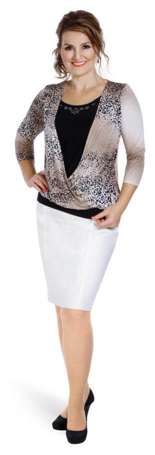 TEA koženková sukně pro plnoštíhlé