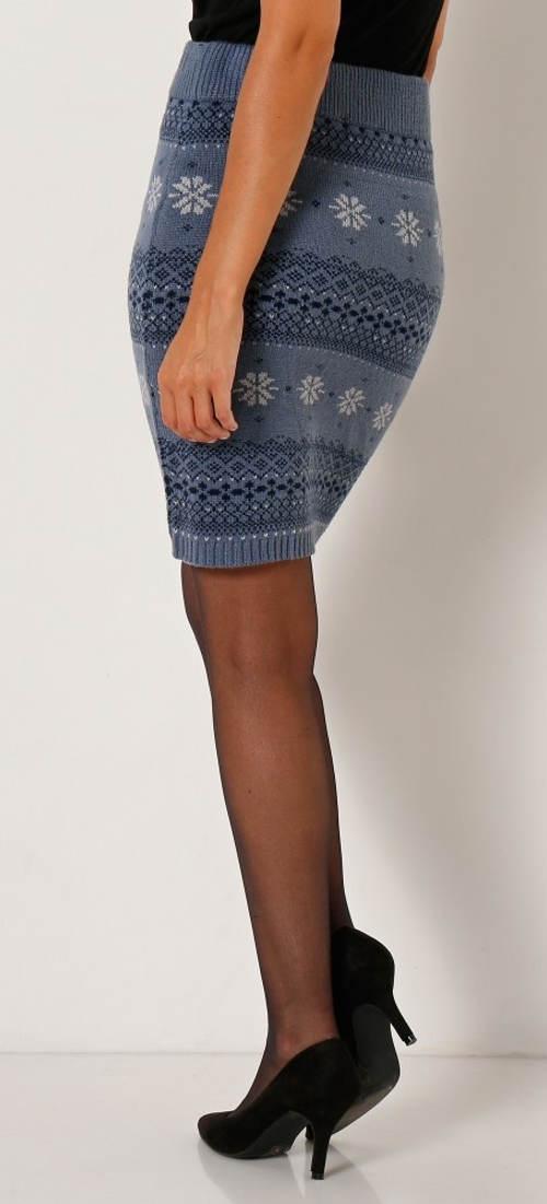 Úpletová zimní sukně Blancheporte