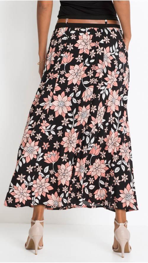 Vzdušná letní květinová sukně