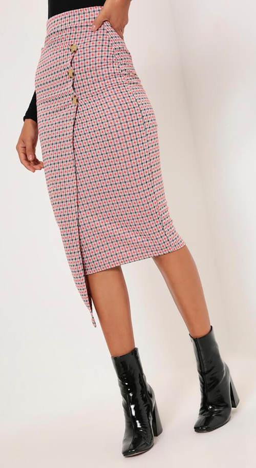 Zavinovací midi sukně