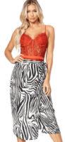 Zavinovací midi zebrovaná sukně