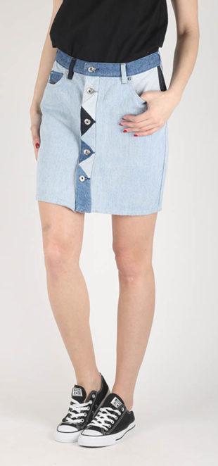 Dámská džínová sukně Diesel s propínáním na knoflíky