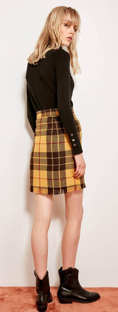 Dámská sukně skotského vzhledu