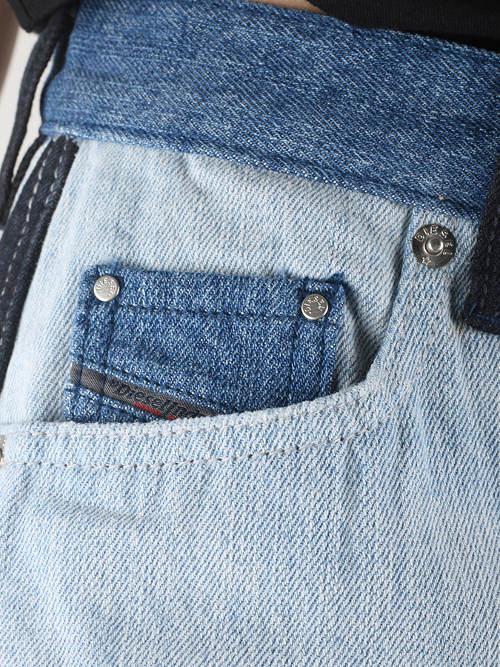 Klasické džínové kapsy sukně