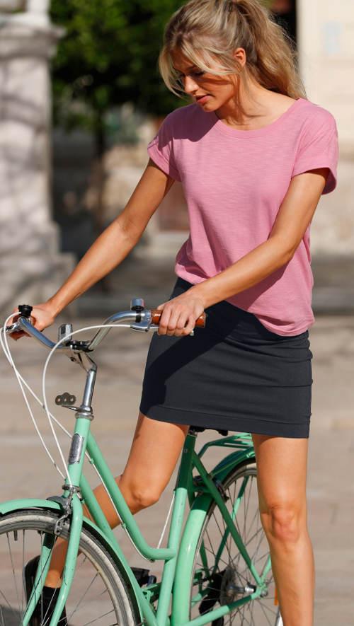 Letní sukně na kolo