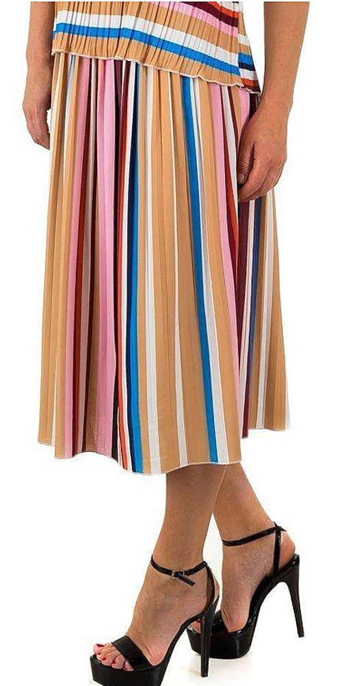 Pruhované letní sukňo-šaty