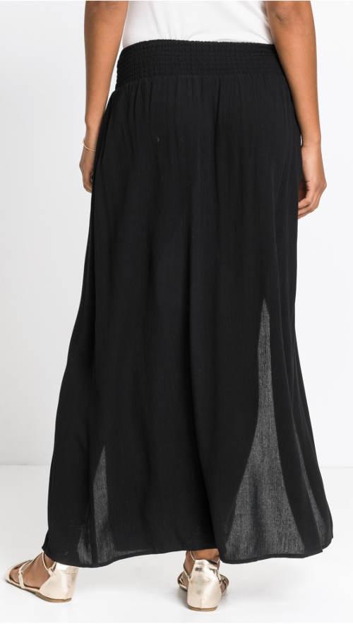 Černá maxi sukně léto 2019