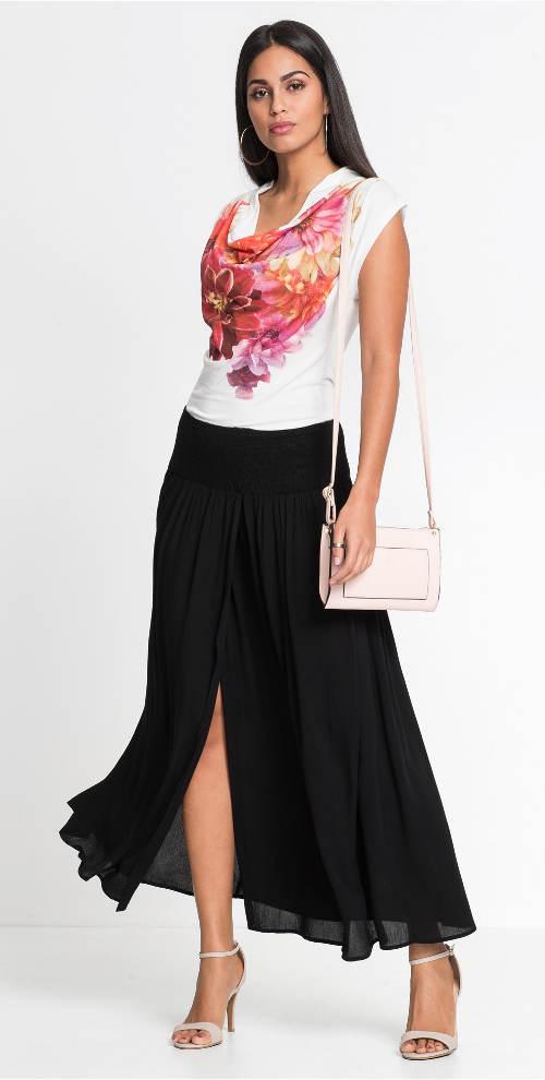 Dlouhá černá zavinovací sukně