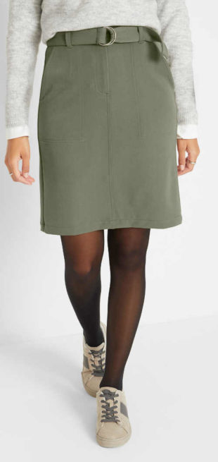 Jednoduchá cargo sukně s páskem