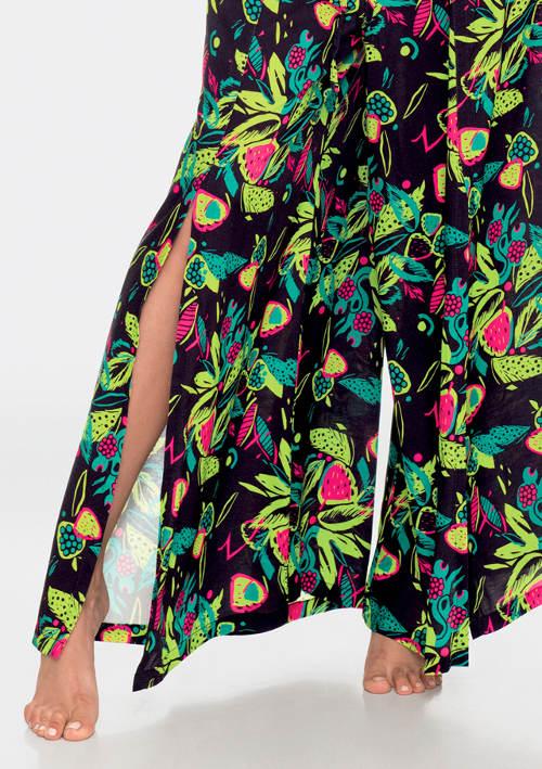 Kalhotová sukně s rozparky na nohavicích