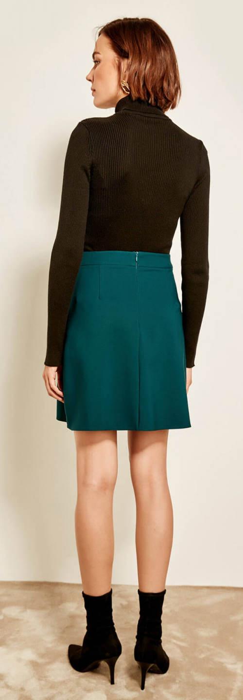 Kratší petrolejová dámská sukně