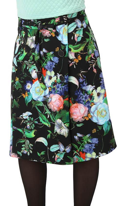 Květinová sukně k legínám