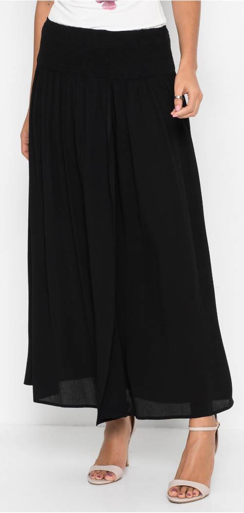 Lehounká černá maxi sukně