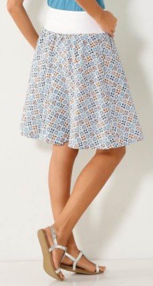 Lehounká letní sukně ze vzdušného krepu