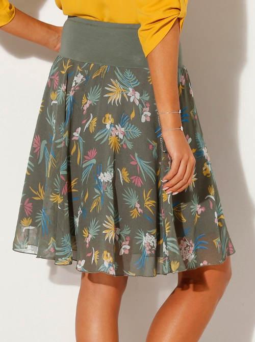 Lehounká letní květinová sukně