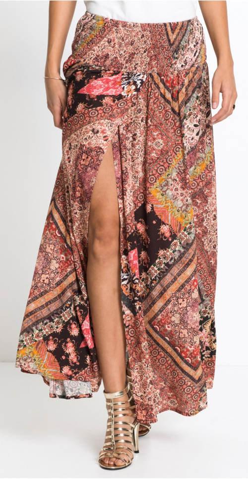 Letní maxi sukně zavinovacího vzhledu