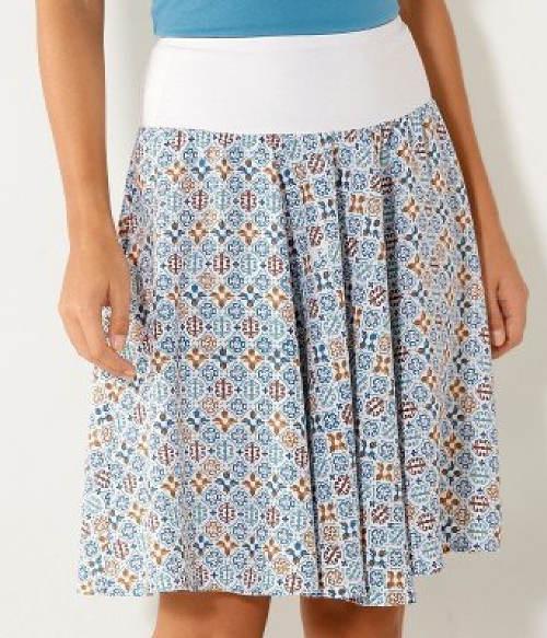 Letní sukně s vysokou pasovou gumou