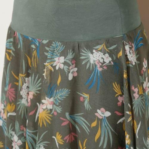 Pohodlný široký pas sukně
