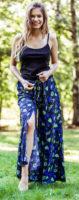 Prodyšná kalhotová sukně se širokými nohavicemi